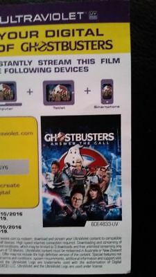 DIGITAL UV Code ONLY GHOSTBUSTERS 3 ANSWER THE CALL NO DISCS