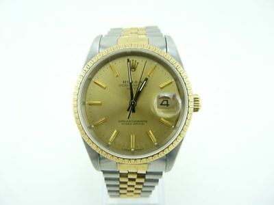 Rolex 18k and SS Oyster Perpetual Date Just Serviced 15223