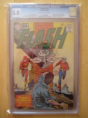 DC Comics FLASH 123 cgc 5.0 1961 silver age