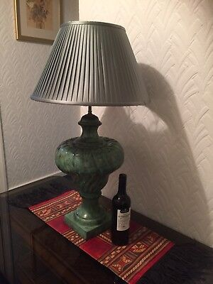 Very Large Rochamp Lamp, Urn Brass Verdigris with shade and carrier. Top quality
