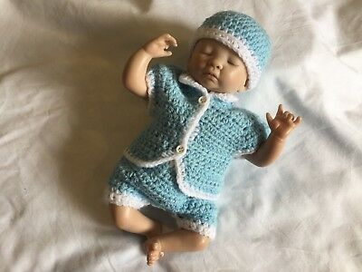reborn doll clothes blue and white for a ten inch reborn doll