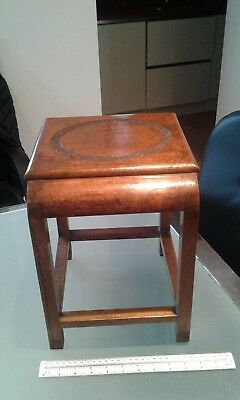 ANTIQUE CARVED HARDWOOD DISPLAY STAND table Chinese carving 20th century
