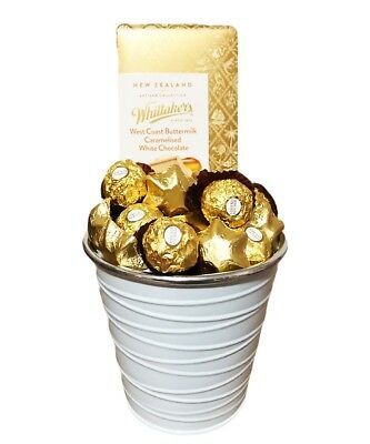 BRAND NEW Bucket of Gold Hamper Edible Gift Chocolate Arrangement Gift Ideas