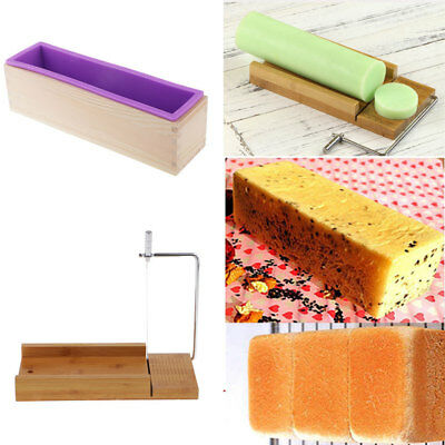 Soap Cutter Cutting Tools with Wire Slicer + Silicone Soap Loaf Mould Mold