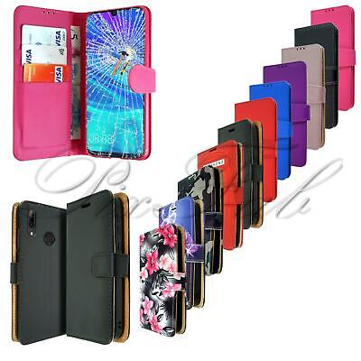 For Vodafone Smart X9 New Black Leather Wallet Phone Case Cover + Screen Glass