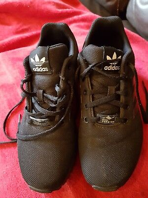 37e5a7204 Adidas ZX Flux Originals Trainers All Black Size 5 UK Boys Girls Mens Womens