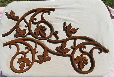 2 Architectural Salvage Cast Iron Pieces – Wall or Fence - Both for