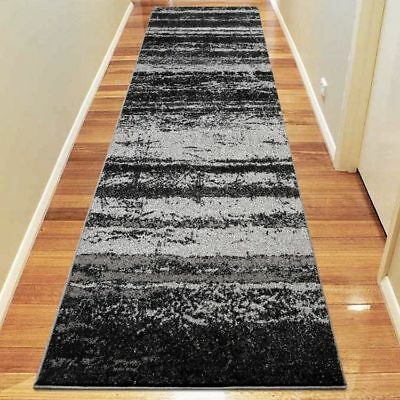 Hallway Rug Hall Runner Modern Contemporary Mat Floor Carpet Grey 3 Sizes 1093