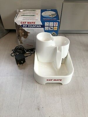 Pet Cat Mate Drinking Fountain Water Bowl for Cats and small dogs