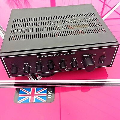 MX30 mixer amp 70-100 volt line or 4 - 8 - 16 ohms (used)