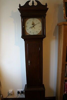Antique longcase clock 18th century 30hr Daventry w mason C1802 restored