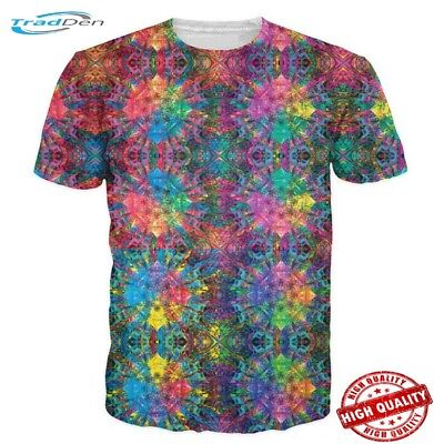 New T-Shirt Men/Women 3D Colorful Psychedelic Print Short Sleeve Summer Fashion