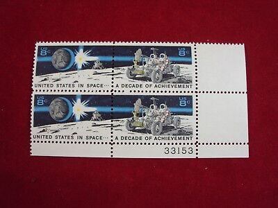 1434 a Space Achievement  Tagging Omitted Block of 4 MNH OG