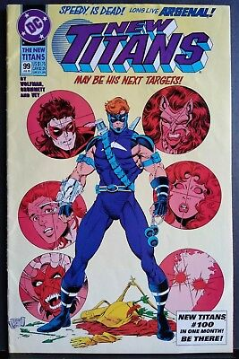 New Teen Titans (2nd Series) New Titans #99 First Arsenal 1993 FINE 6.0