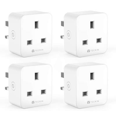 TECKIN SMART PLUG, WiFi Alexa, Echo, Google Home No Hub Required,16A (4  PACK)