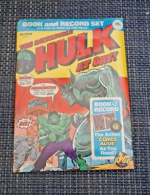 Vintage 1974 The Incredible Hulk Comic Book and Record Set. Sealed !