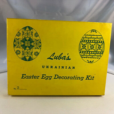Luba's Ukrainian Easter Egg Decorating  Kit No. 3 Dye  Designs  Instructions