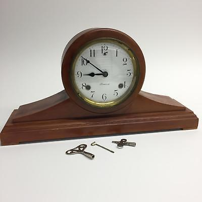 Vintage Wood Sessions Clock Company Mantle Tampa As Is Gears Need Cleaning