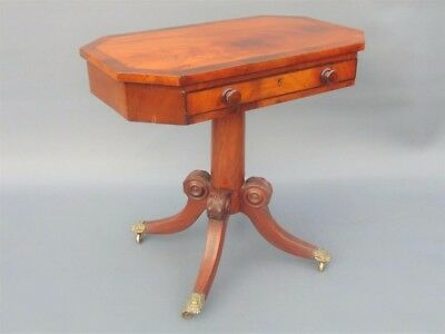 Regency Period Mahogany & Rosewood Side Table