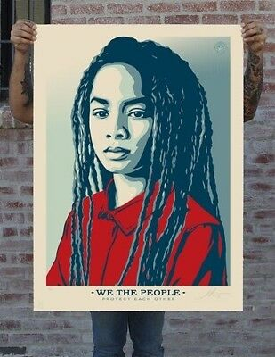 Shepard Fairey (obey)-We The people-Protect each other-Artist Proof-large format