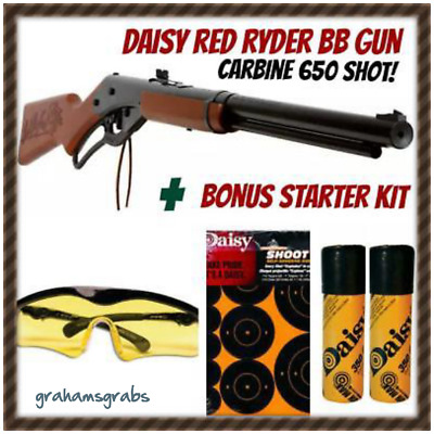 Daisy RED RYDER Carbine BB Gun KIT 650 SHOT With GLASSES, TARGETS, & 700 BB'S