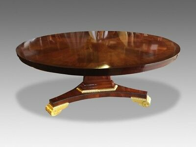 Exquisite Circular Sunburst Flame Mahogany Table Pro French Polished