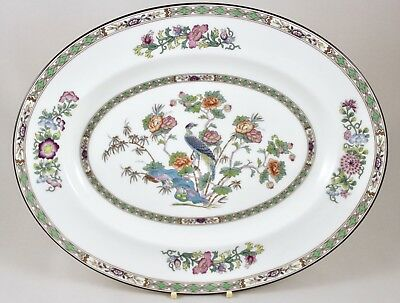 "Wedgwood China Kutani Crane R4464 14"" Oval Serving Platter 1St Excellent!"