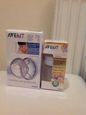 Avent Breast Shells Protects sore Nipples and Avent Anti-colic Valve Bottle