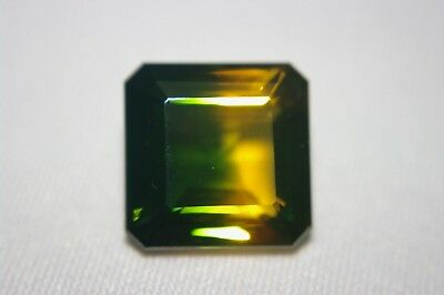 TOP Emerald bicolor Quarz 24,5 ct facettiert ca.18 x 18 mm