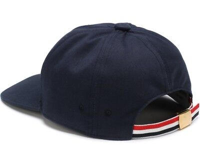 THOM BROWNE 6-Panel Baseball Cap Hat w  Red White Blue Seam Twill Navy aa3eb3f3a07a