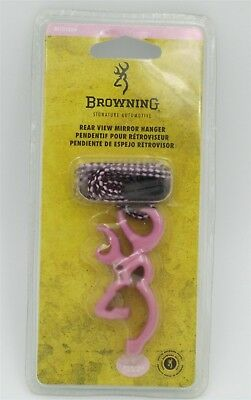 Browning Pink Deer Head Rear View Mirror Hanger New in Package