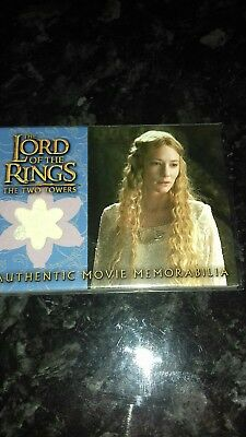 Lord of the rings topps memorabilia card