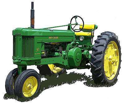 John Deere Model 50 canvas art print by Richard Browne farm tractor