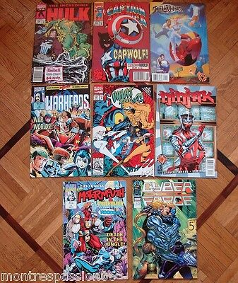 Lot 7 Comics Hulk Captain America Warheads Ninjak Semic Marvel Comics Us Usa