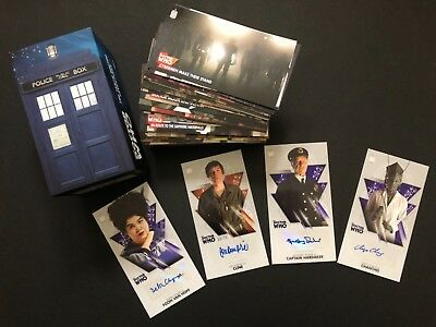 "TOPPS Dr Who OVERSIZED 2.5 X 4.75"" 4 Lot Auto Autograph +BOXED SET-NOT Signature"