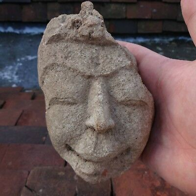 Authentic Ancient Gandhara Stucco Statue Fragment Antique Buddha Head