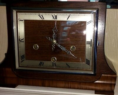 Beautiful Enfield (Smiths) Westminster & Whittington chimes clock 1940s