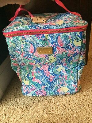 NWT Lilly Pulitzer ~MERMAID COVE~ Insulated WINE BOTTLE Cooler Bag ~BEACH~