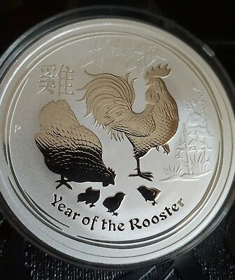 1oz Australian 2017 Lunar Year Of the Rooster Silver Bullion Coin