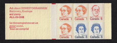 "Canada — Booklet Pane of 6 — Caricature Issue #586a ""BK74j"" Stuttering ""C"" — MNH"