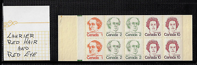 """Canada — Booklet Pane of 10 — Caricature Issue #586c (BK76...) """"Variety"""" — MNH"""