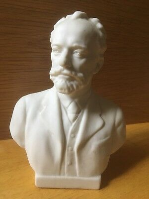 """Small 7"""" Porcelain Bust Of Tchaikovsky"""