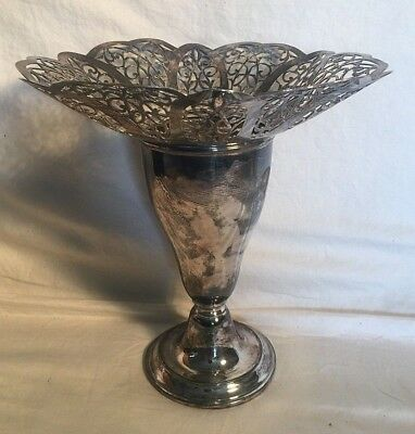 Vintage Antique WM. ROGERS EPWM 4317 Ornate Victorian Silverplate VASE URN 10""