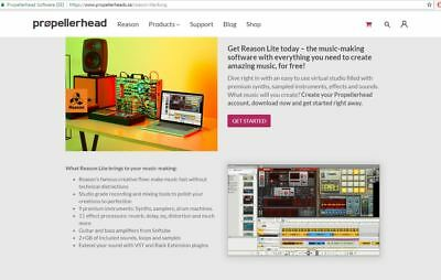 Propellerhead Reason Lite, Genuine Download License, New