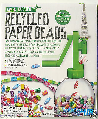 Green Creativity Recycled Paper Beads - Brand New In Sealed Box!