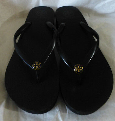 4d48841752305 NEW AUTH TORY Burch Rubber Flip Flop in Classic Black Size 8-10 ...