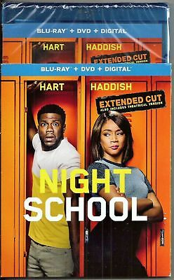 NEW - Night School Extended Cut Blu-ray + DVD + Digital with slipcover