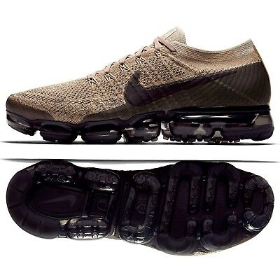 Nike Air VaporMax Flyknit Pudding 849558-201 Khaki/Anthracite Men Running Shoes