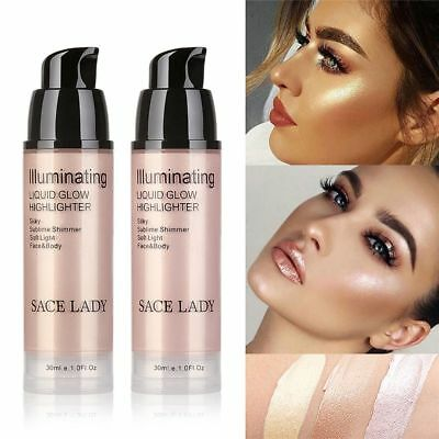 Liquid Highlighter Makeup Shimmer Face Illuminator Oil-Glow