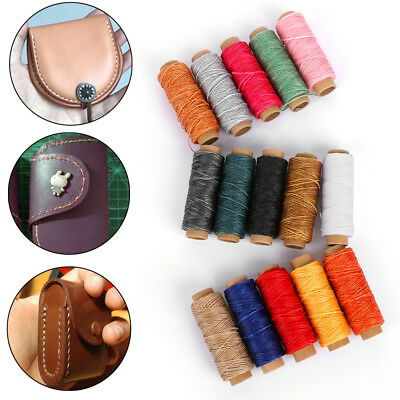 DIY 50M 150D 1mm Leather Sewing Flat Waxed Thread Wax String DIY Stitching-Craft